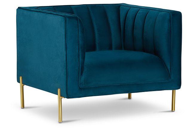 Bella Dark Blue Velvet Chair