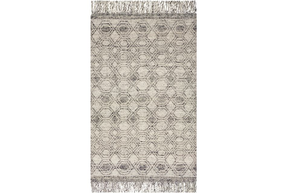 Hollow Gray 5x7 Area Rug
