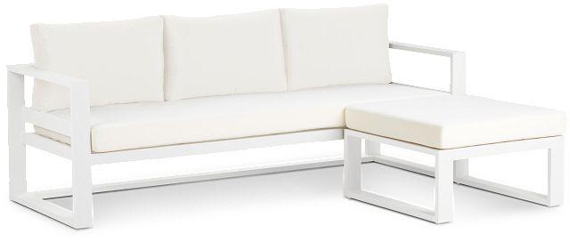 Lisbon White Aluminum Chaise Sectional (2)