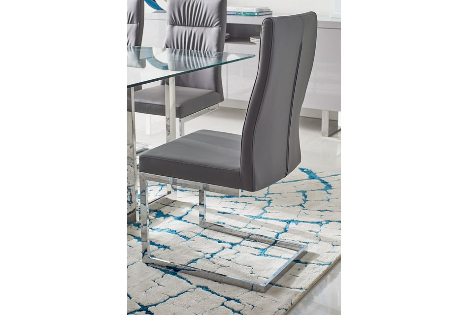Bronx Gray Upholstered Side Chair