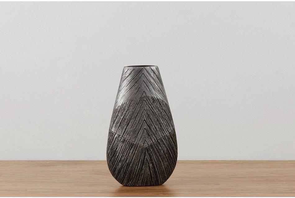 Delancey Dark Gray Small Vase