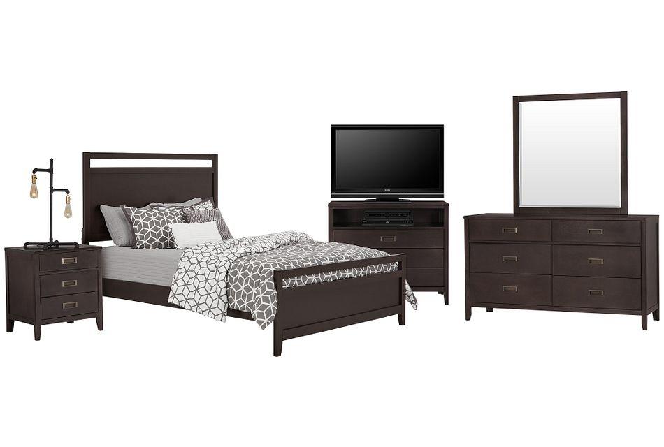 Chatham Dark Tone Panel Bedroom Package