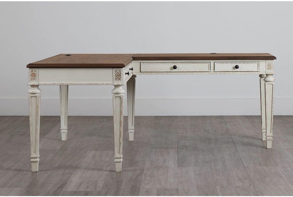 Realyn2 Two-Tone Lift-Top Return Desk,  (0)