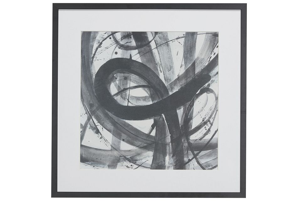 Twist Black  Framed Wall Art,  (0)