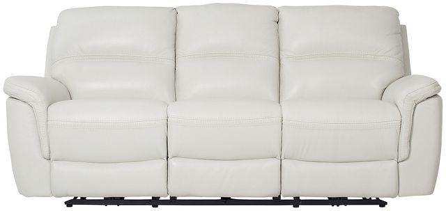 Bryson Light Gray Lthr/vinyl Power Reclining Sofa (1)