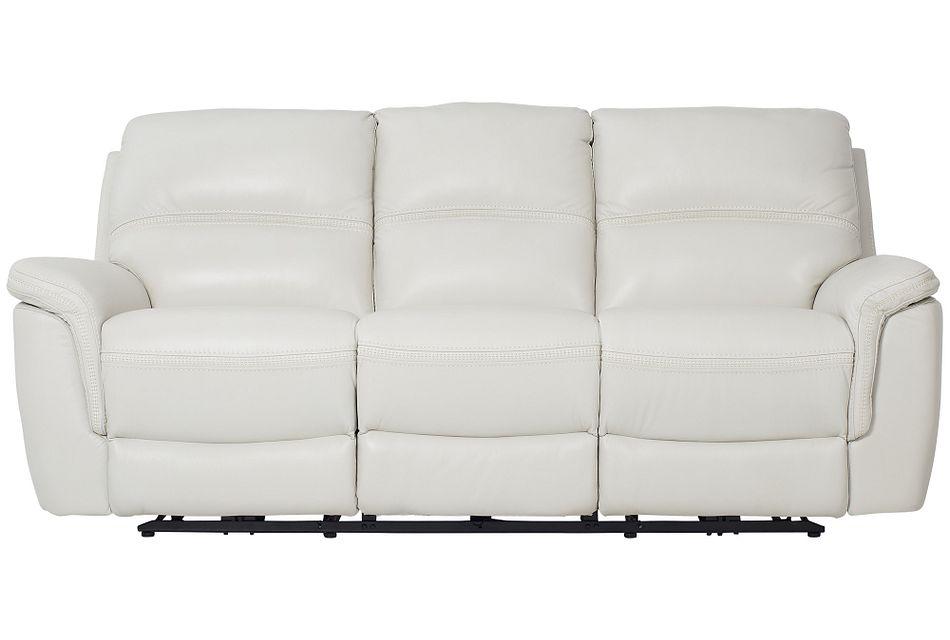 Bryson Light Gray Lthr/vinyl Power Reclining Sofa