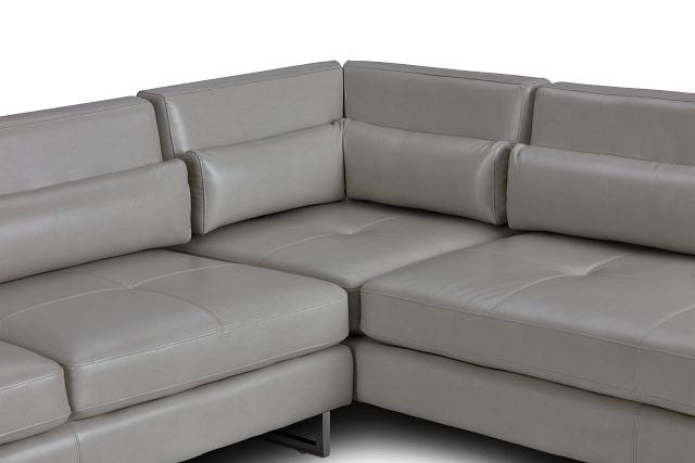 Alec Light Gray Micro Right Chaise Sectional (0)