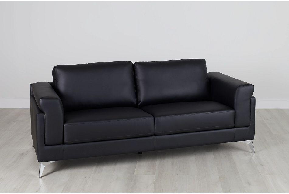 Gianna Black Micro Sofa, %%bed_Size%% (0)