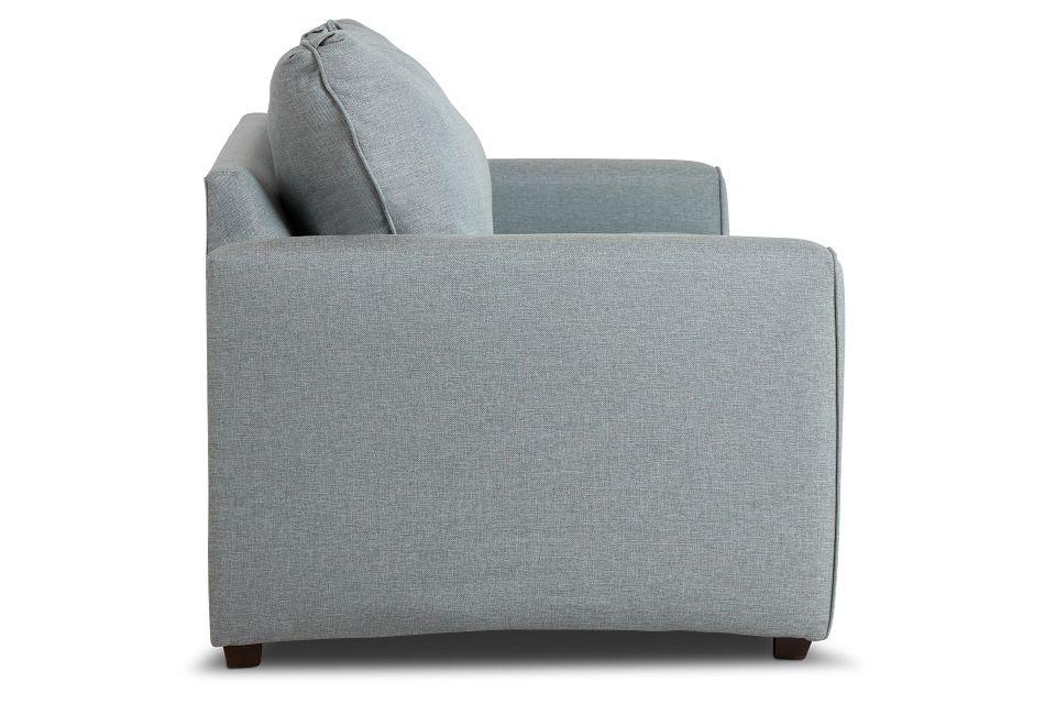 Ripley Light Blue Fabric Sofa,  (3)