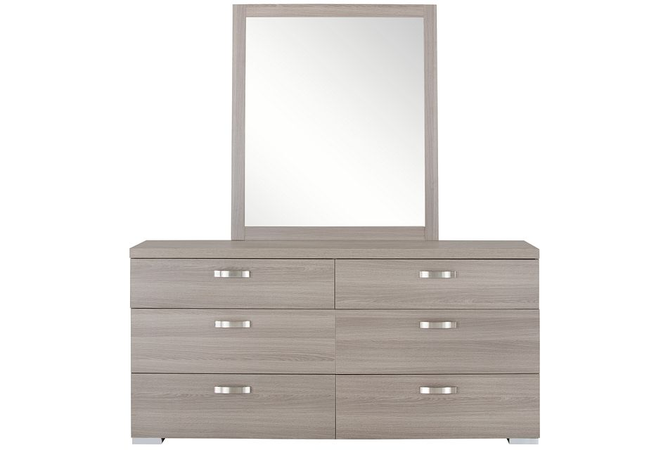 Caelan Light Tone Dresser & Mirror
