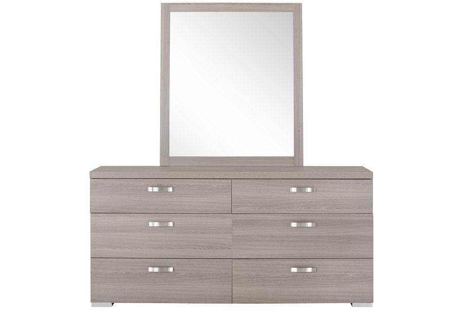 Caelan Light Tone Dresser & Mirror