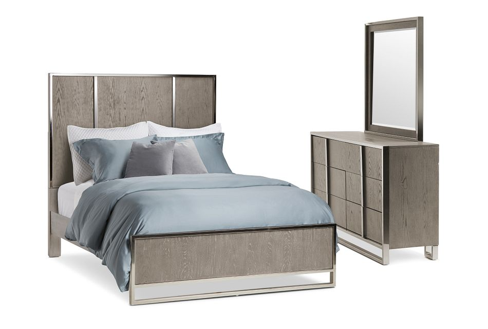 Tribeca Light Tone Panel Bedroom