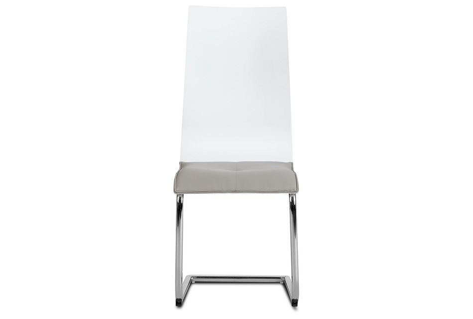 Pavia Two-tone Chrome Upholstered Side Chair