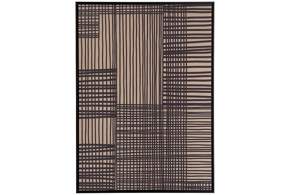 Grid Linen Framed Wall Art