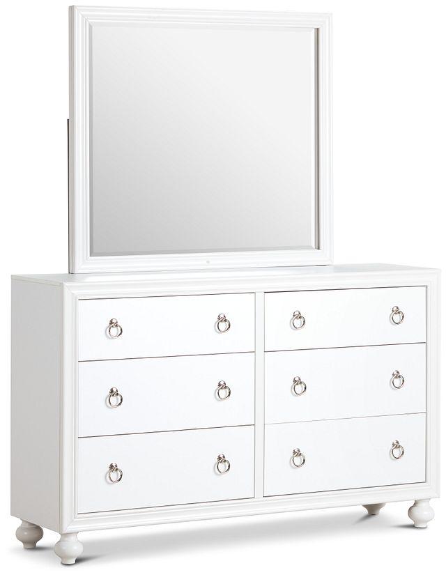 Isabella White Youth Dresser & Mirror (2)