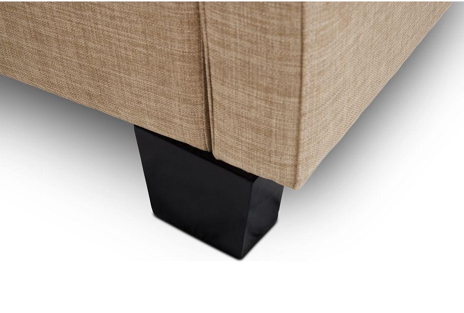 Holden Taupe Uph Platform Storage Bed