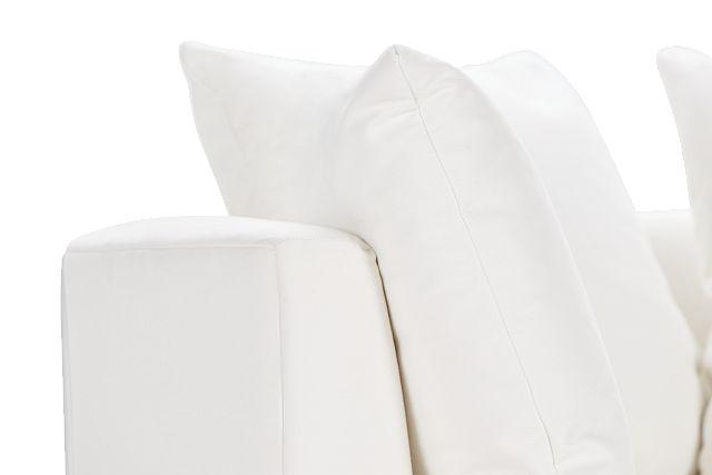 Merrick White Fabric Swivel Chair