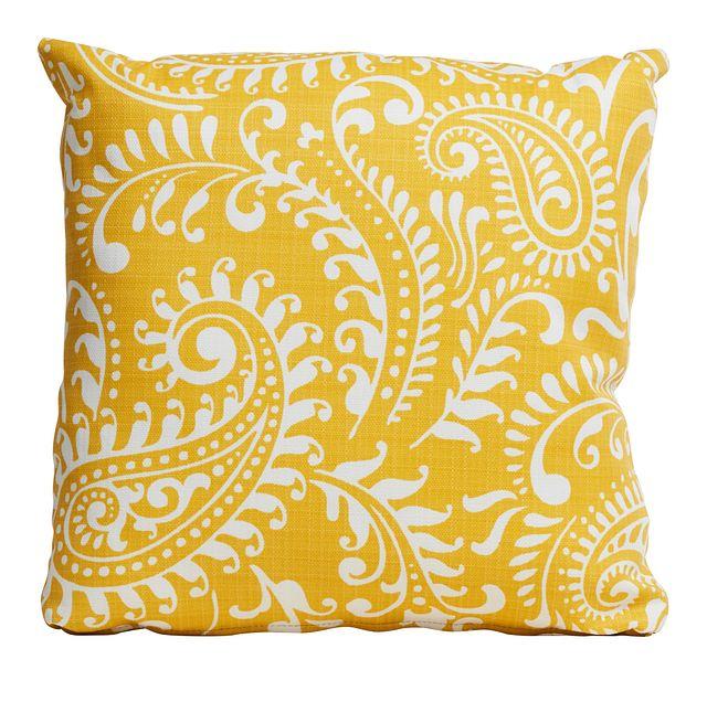 """Walker Yellow 18"""" Indoor/outdoor Accent Pillow (0)"""