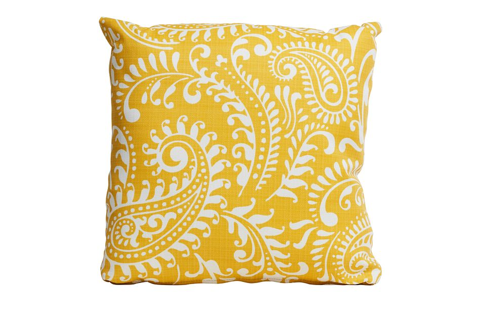 """Walker Yellow 18"""" Indoor/outdoor Accent Pillow"""