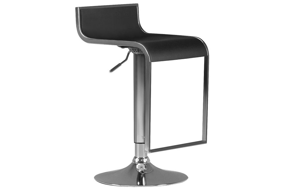 Oslo Black Adjustable Stool