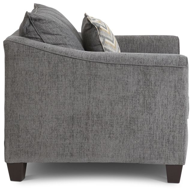 Maggie Dark Gray Fabric Chair (2)