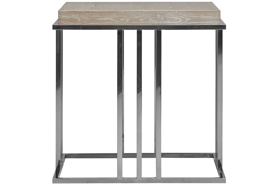 Zephyr Light Tone Square End Table