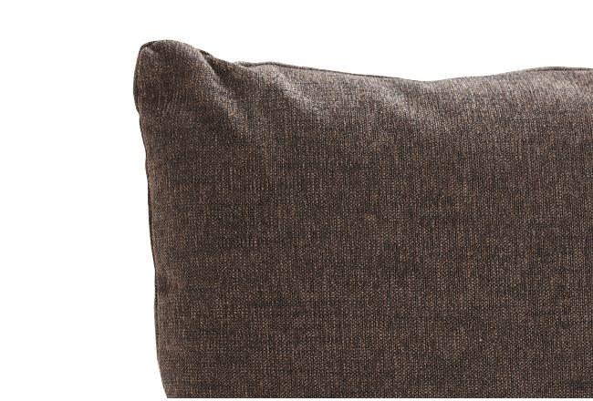 Hallie Dark Gray Fabric Square Accent Pillow