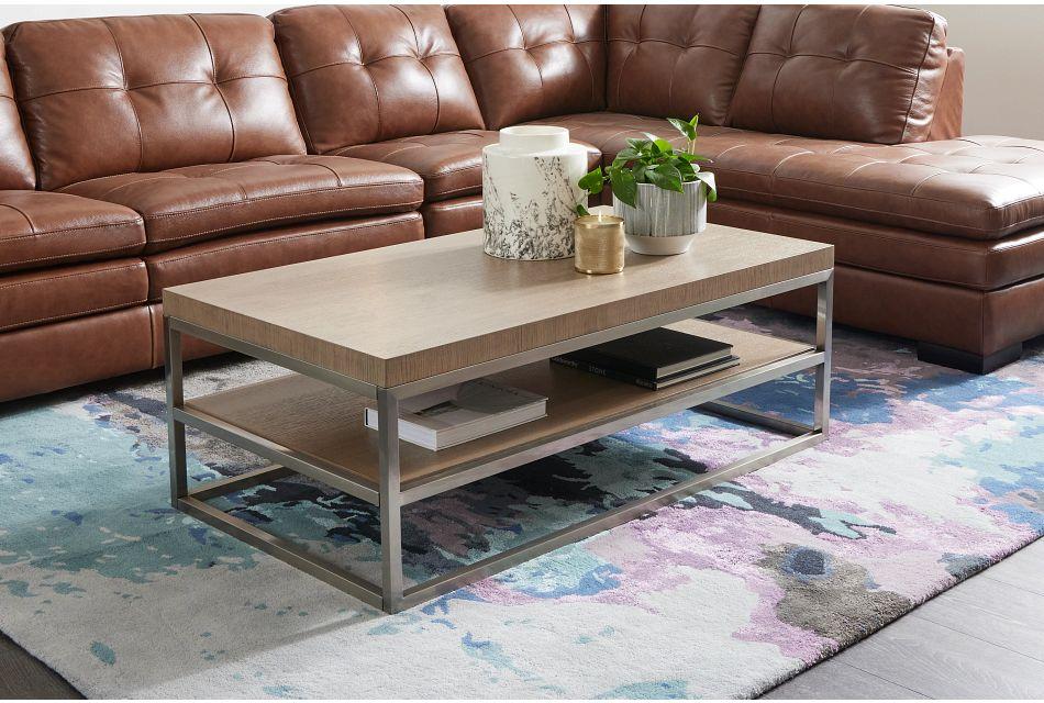 Gramercy Light Tone Rectangular Coffee Table,  (1)