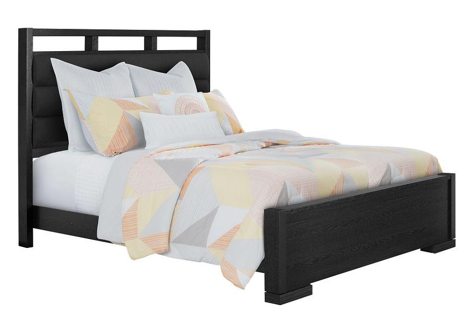 Sutton Dark Tone Uph Panel Bed