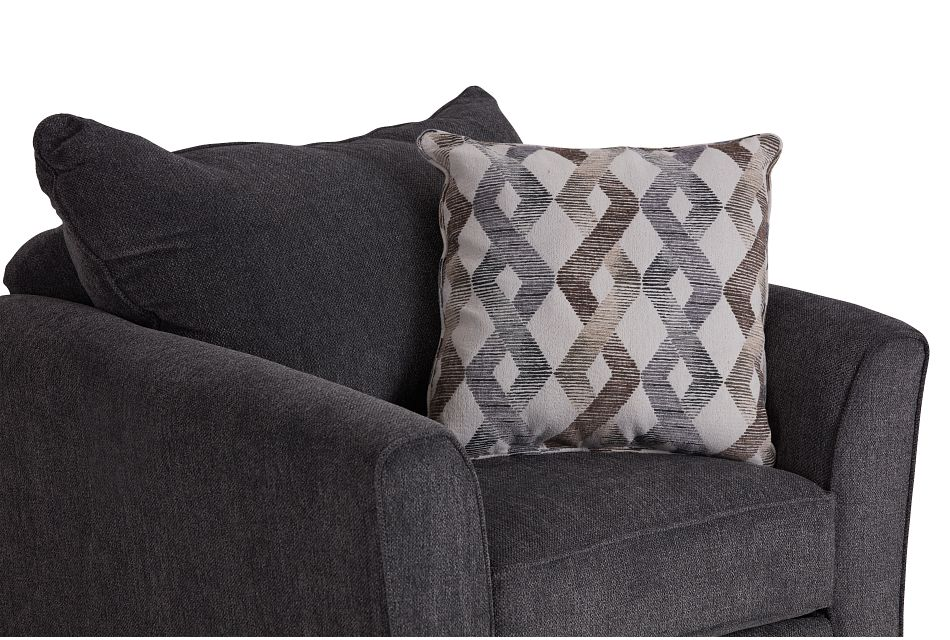Myra Dark Gray Fabric Chair