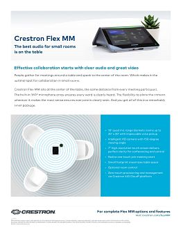 Sell Sheet: Crestron Flex MM