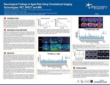 Image of the scientific poster Neurological Findings in Aged Rats Using Translational Imaging Technologies: PET, SPECT and MRI