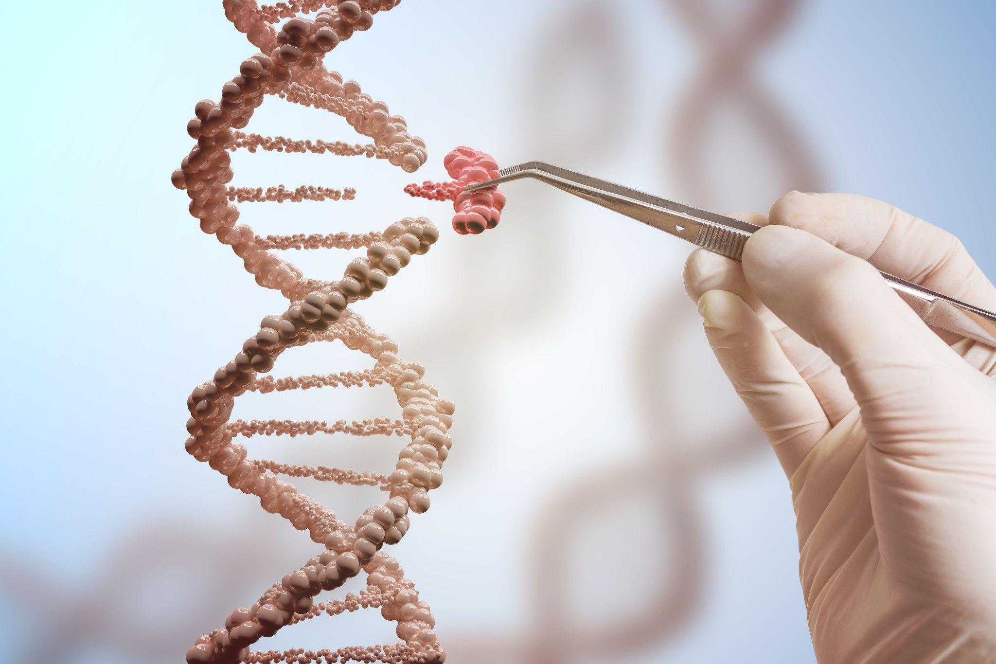 digital dna double helix genetic engineering
