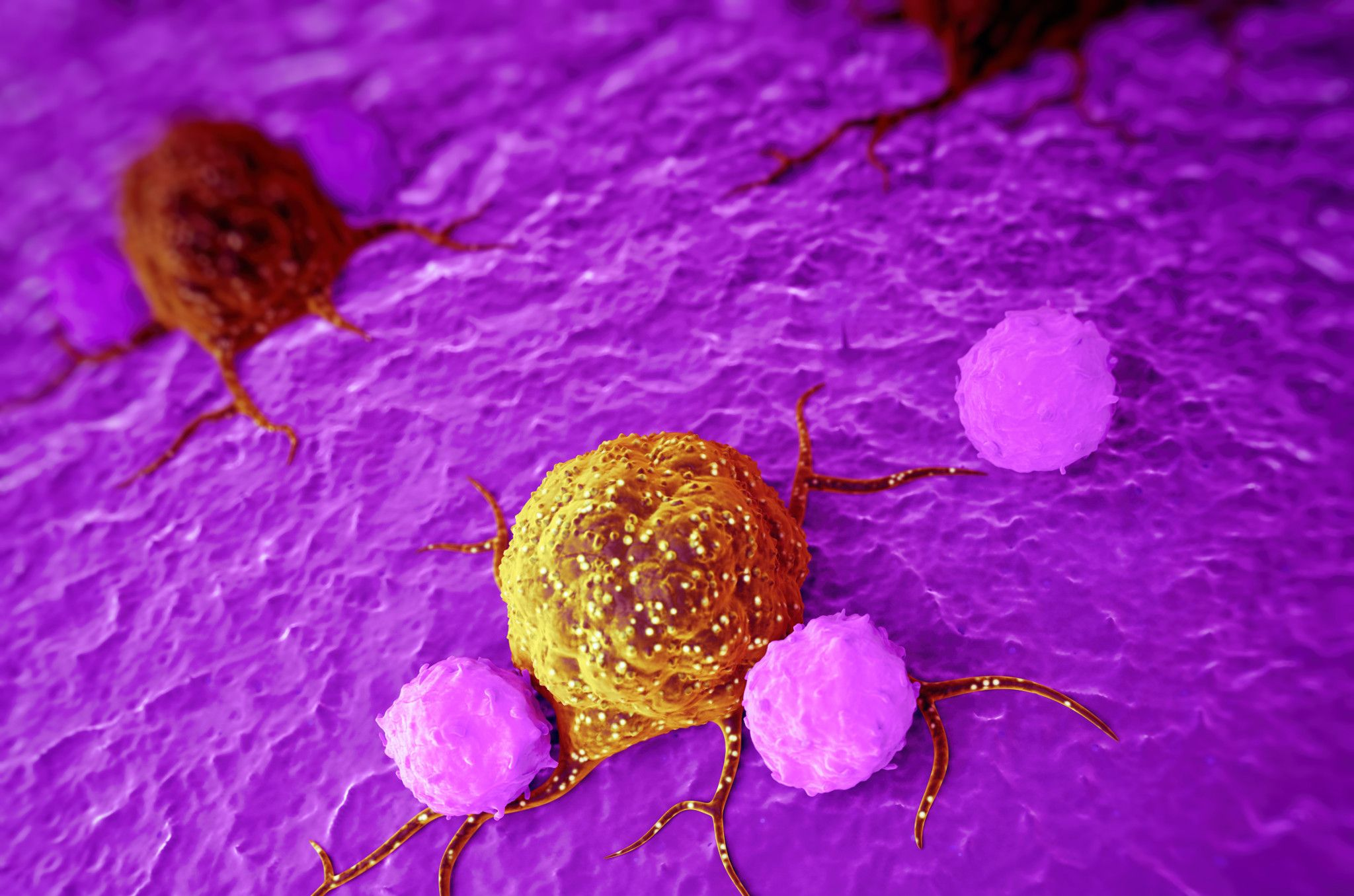 medically accurate 3d illustration of cancer cells