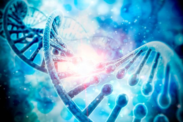 3d render of dna structure, abstract  background.