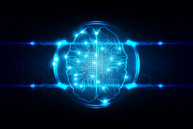 Abstract artificial intelligence concept background