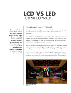 LCD vs LED in Large Format Applications