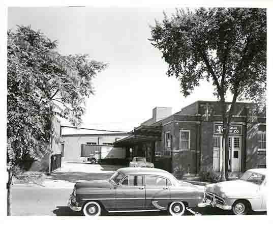 black and white photo of the original Solo Cup Co. headquarters