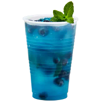 Blueberry drink in Conex Galaxy plastic cup