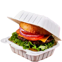 Hamburger in ProPlanet™ by Dart Mineral-Filled Polypropylene Hinged Lid Containers