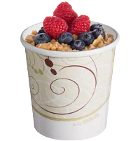 Oatmeal with fruit in Flexstyle container