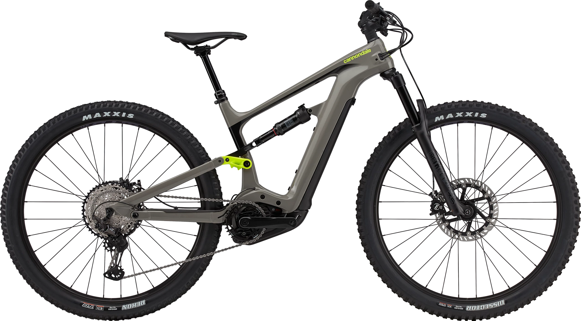 cannondale neo grey full-suspension mountain bike