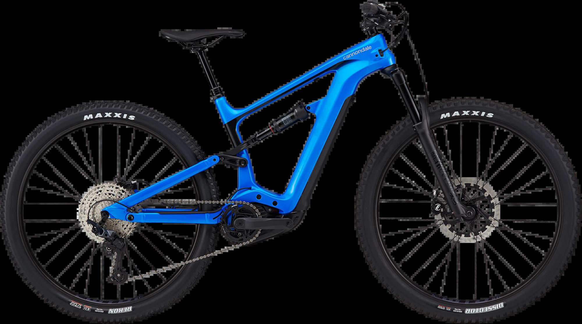 cannondale blue full-suspension emtb
