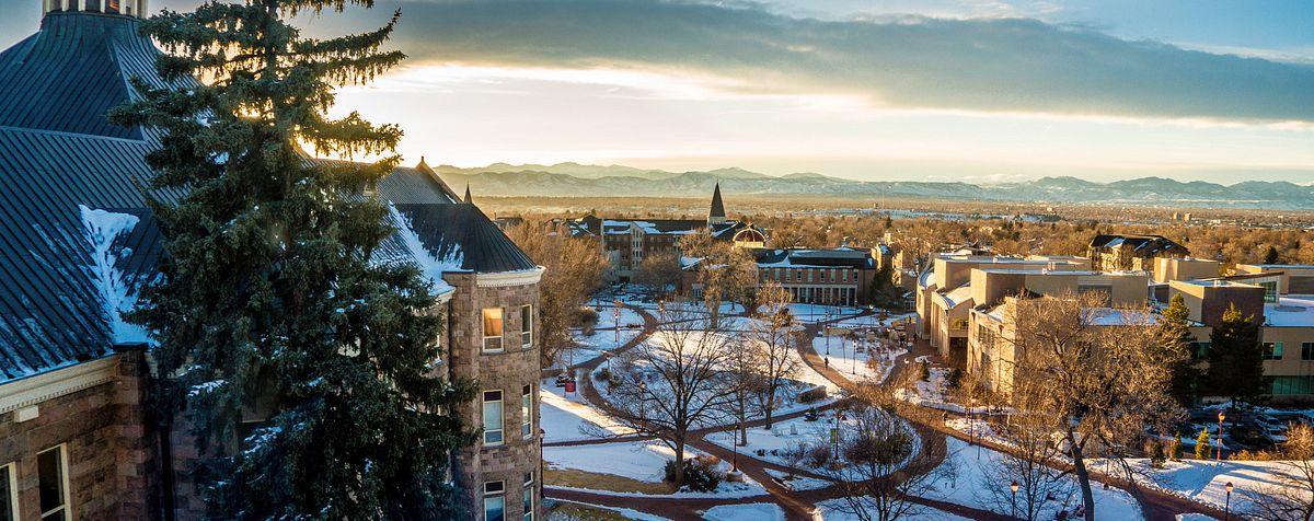 winter campus scenic