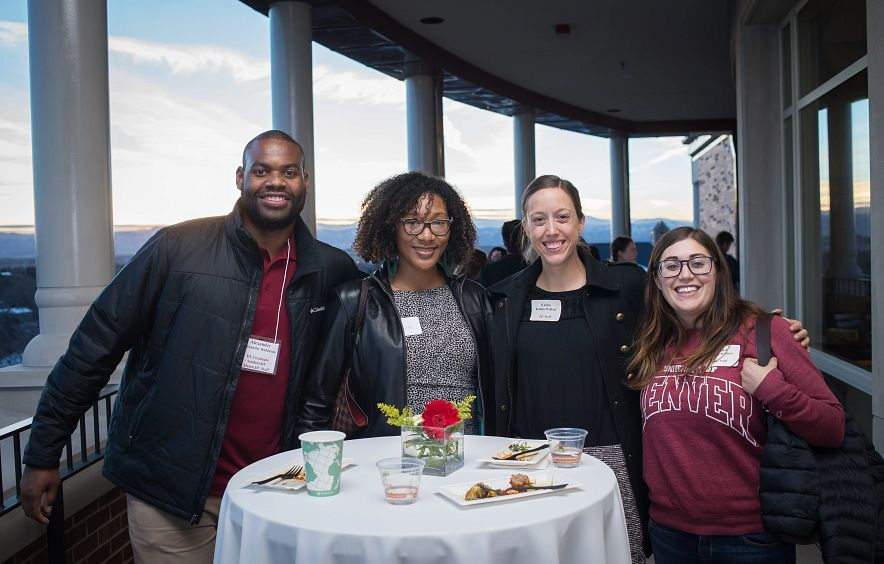 students talk together at the Diversity Summit