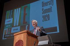 jeremy haefner speaking at diversity summit