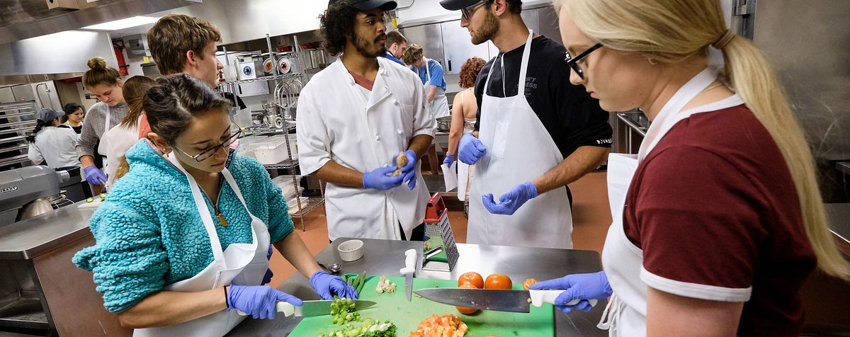 students cooking at cook-in