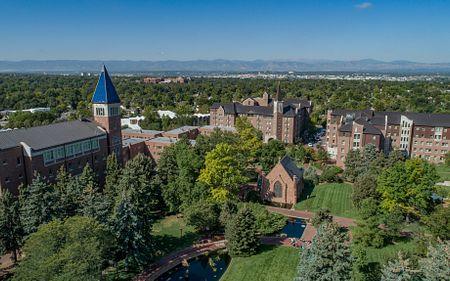 Aerial shot of DU campus
