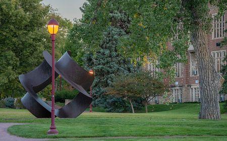 sculpture on DU's campus