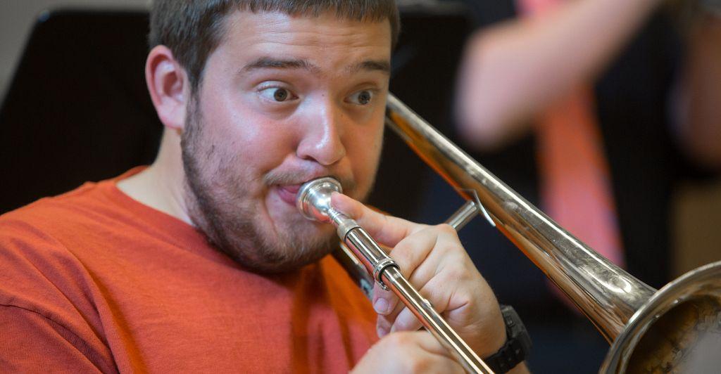 Trombone student